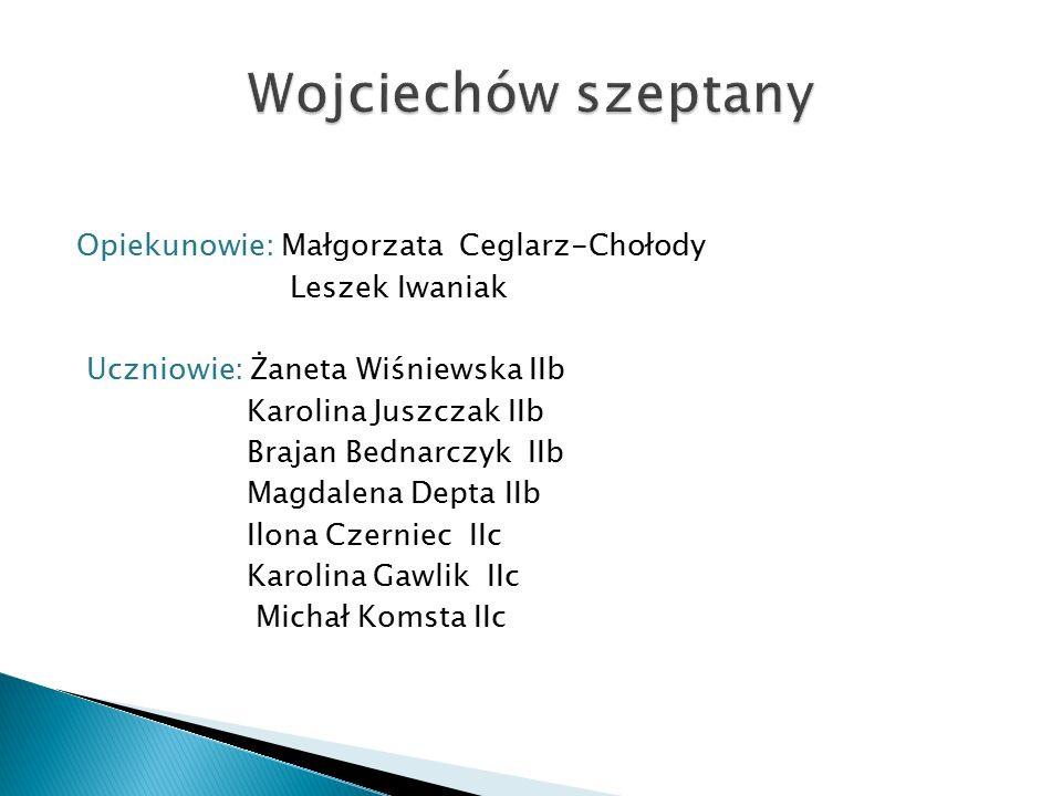 Opiekun: Katarzyna Kędzierska Uczniowie: Patrycja Grelowska Agnieszka Jęczeń Izabela Węgorowska Amanda Górniak