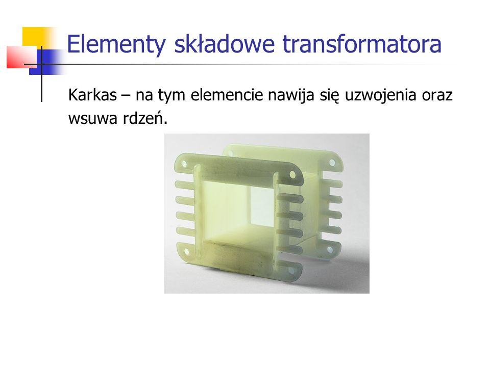 Rdzeń zbudowany z materiału ferromagnetycznego, który doskonale przenosi strumień magnetyczny.