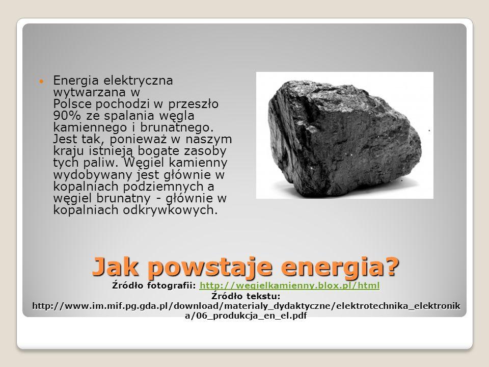 Jak powstaje energia.
