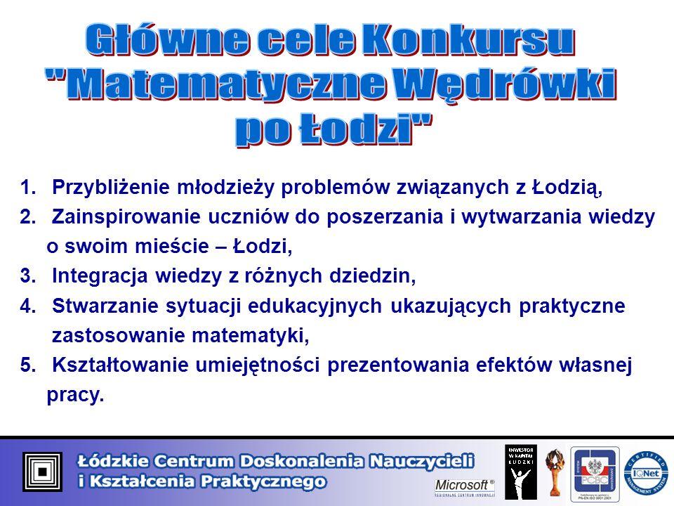 1. Przybliżenie młodzieży problemów związanych z Łodzią, 2.