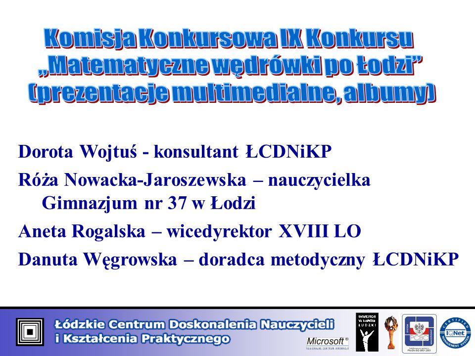 Dorota Wojtuś - konsultant ŁCDNiKP Róża Nowacka-Jaroszewska – nauczycielka Gimnazjum nr 37 w Łodzi Aneta Rogalska – wicedyrektor XVIII LO Danuta Węgrowska – doradca metodyczny ŁCDNiKP