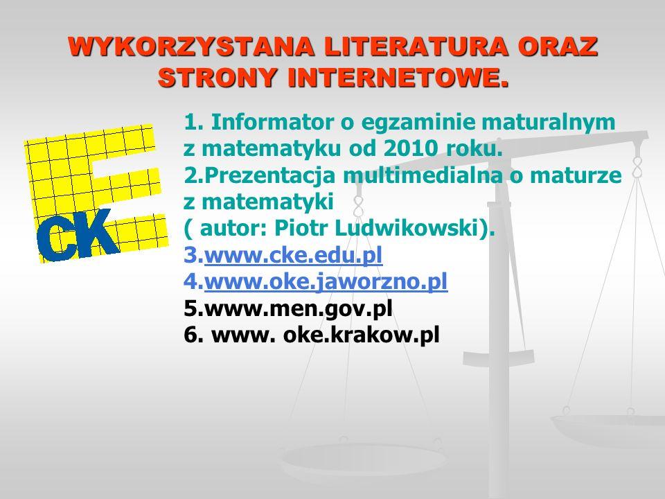 WYKORZYSTANA LITERATURA ORAZ STRONY INTERNETOWE. 1.