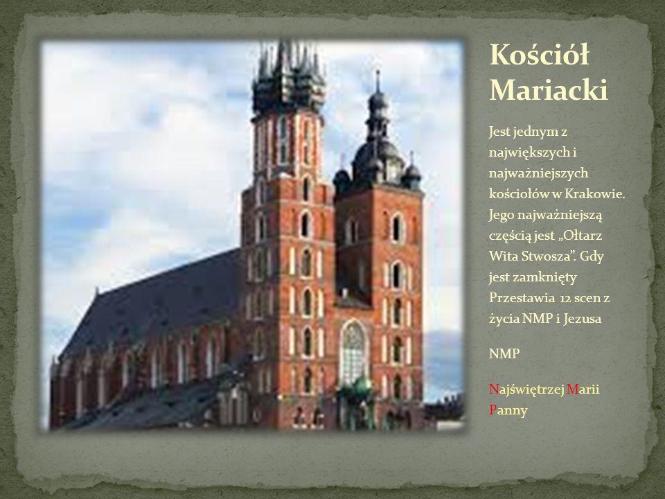 """Jest jednym z największych i najważniejszych kościołów w Krakowie. Jego najważniejszą częścią jest """"Ołtarz Wita Stwosza"""". Gdy jest zamknięty Przestawi"""