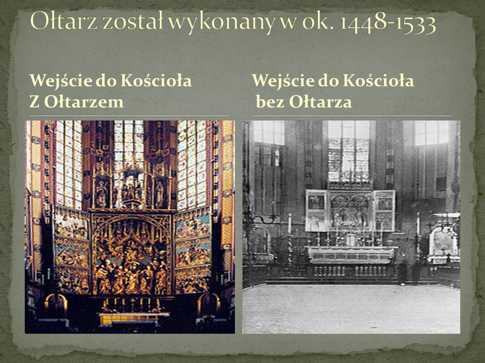 Wejście do Kościoła Z Ołtarzem Wejście do Kościoła bez Ołtarza