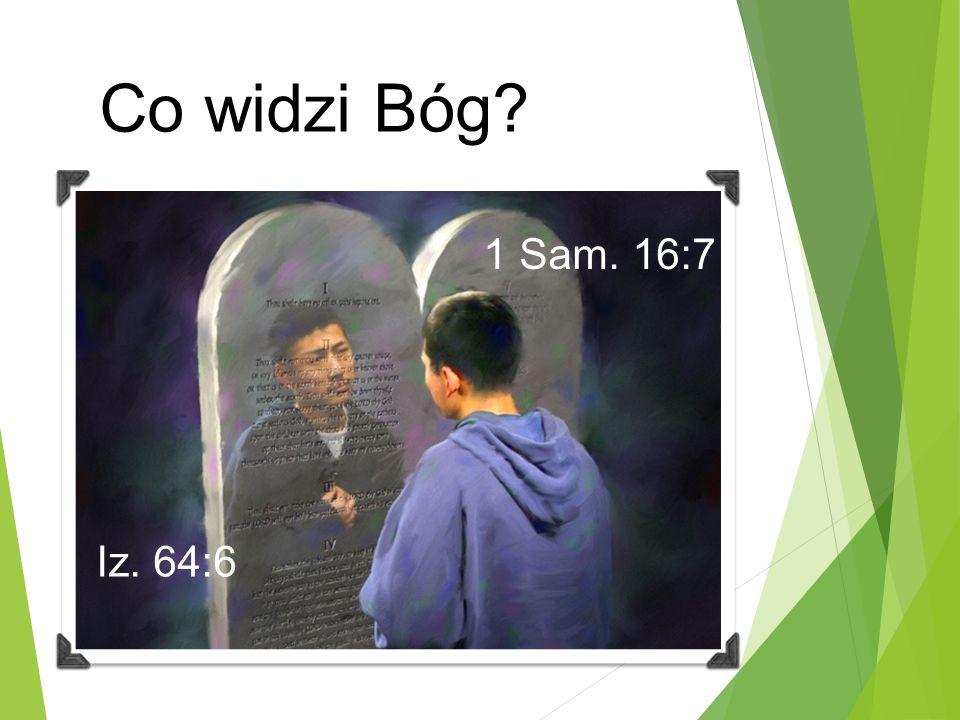 Co widzi Bóg Iz. 64:6 1 Sam. 16:7
