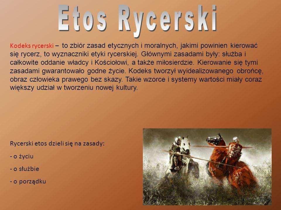 Kodeks rycerski – to zbiór zasad etycznych i moralnych, jakimi powinien kierować się rycerz, to wyznaczniki etyki rycerskiej.