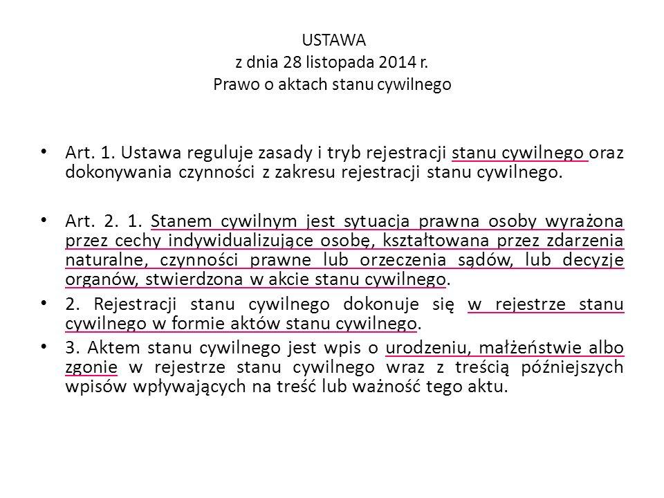 USTAWA z dnia 24 września 2010 r.o ewidencji ludności Art.