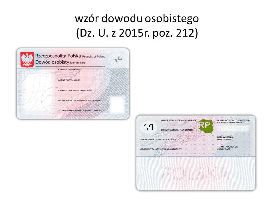 wzór dowodu osobistego (Dz. U. z 2015r. poz. 212)