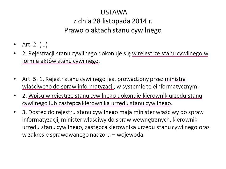 Wzory odpisów aktów stanu cywilnego II