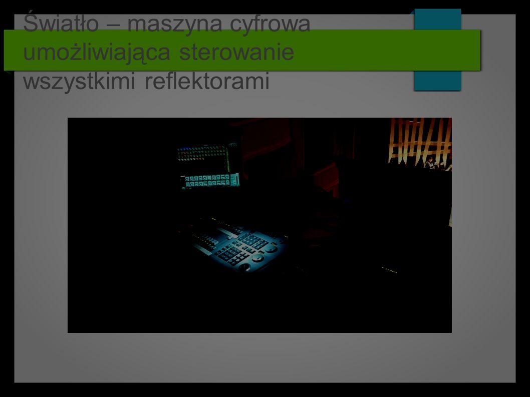 Światło – maszyna cyfrowa umożliwiająca sterowanie wszystkimi reflektorami