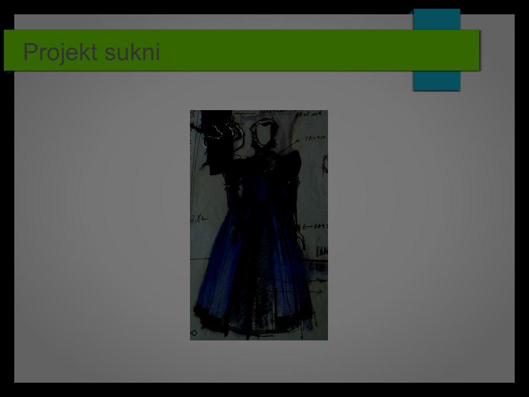 Projekt sukni