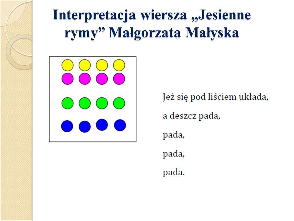"""Interpretacja wiersza """"Jesienne rymy Małgorzata Małyska Interpretacja wiersza """"Jesienne rymy Małgorzata Małyska"""