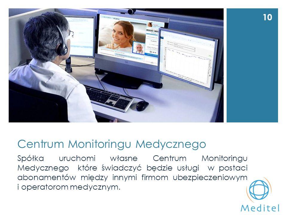 Centrum Monitoringu Medycznego Spółka uruchomi własne Centrum Monitoringu Medycznego które świadczyć będzie usługi w postaci abonamentów między innymi firmom ubezpieczeniowym i operatorom medycznym.