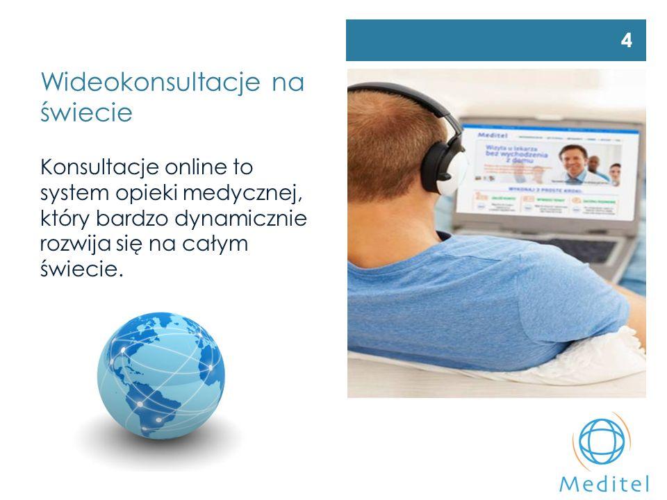 Wideokonsultacje na świecie Konsultacje online to system opieki medycznej, który bardzo dynamicznie rozwija się na całym świecie.