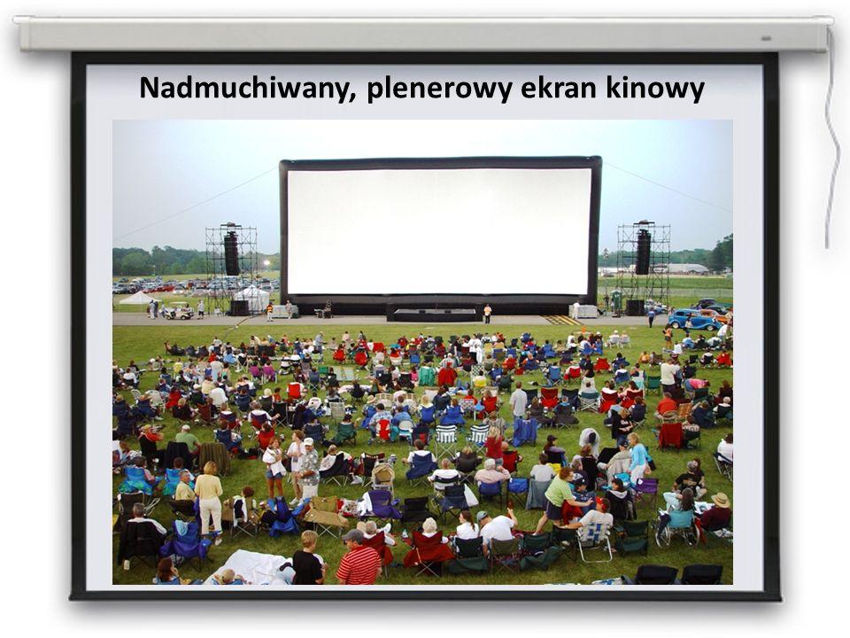 Nadmuchiwany, plenerowy ekran kinowy