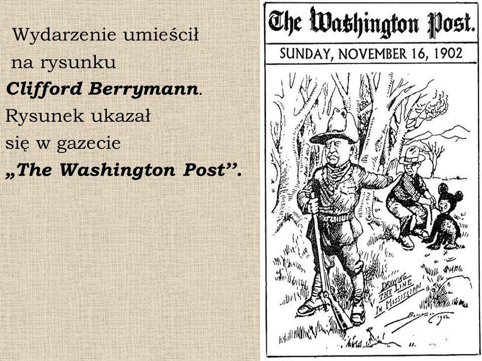 """Wydarzenie umieścił na rysunku Clifford Berrymann. Rysunek ukazał się w gazecie """"The Washington Post''."""