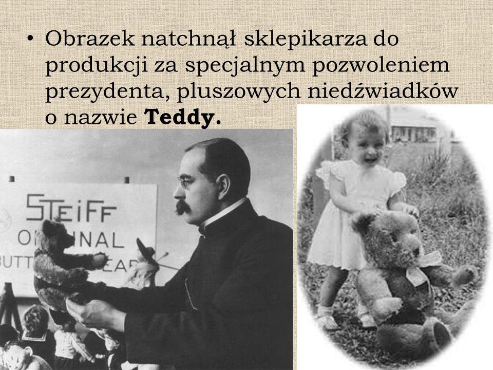 Obrazek natchnął sklepikarza do produkcji za specjalnym pozwoleniem prezydenta, pluszowych niedźwiadków o nazwie Teddy.