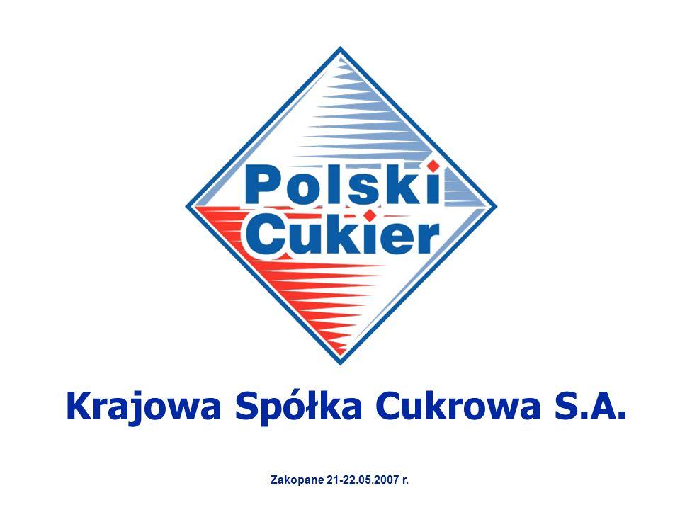 Krajowa Spółka Cukrowa S.A. Zakopane 21-22.05.2007 r.