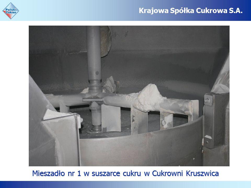 Mieszadło nr 1 w suszarce cukru w Cukrowni Kruszwica Krajowa Spółka Cukrowa S.A.
