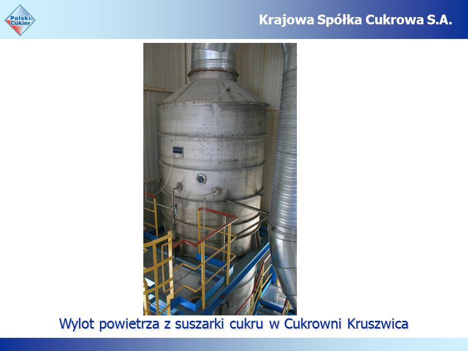 Wylot powietrza z suszarki cukru w Cukrowni Kruszwica Krajowa Spółka Cukrowa S.A.