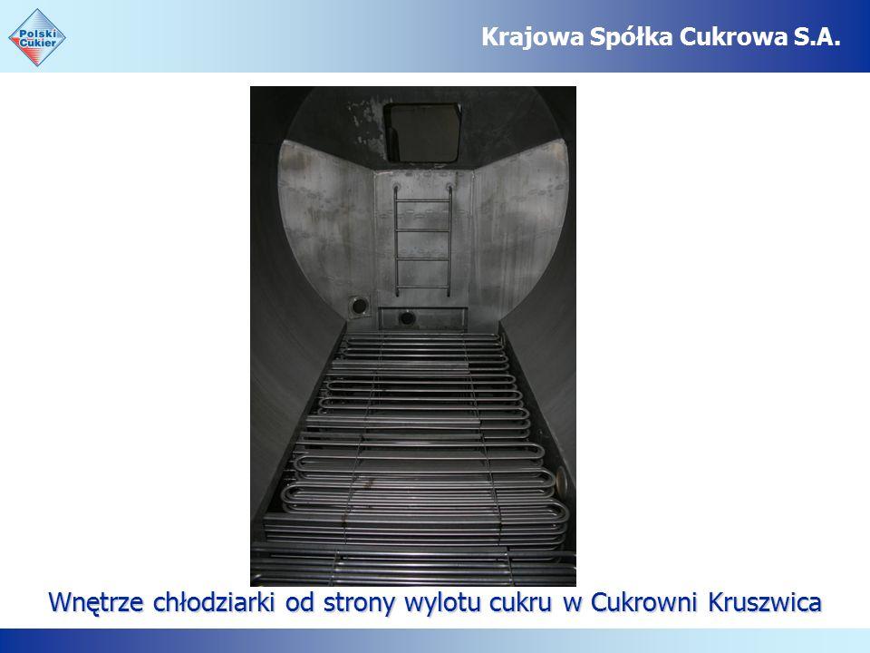 Wnętrze chłodziarki od strony wylotu cukru w Cukrowni Kruszwica Krajowa Spółka Cukrowa S.A.
