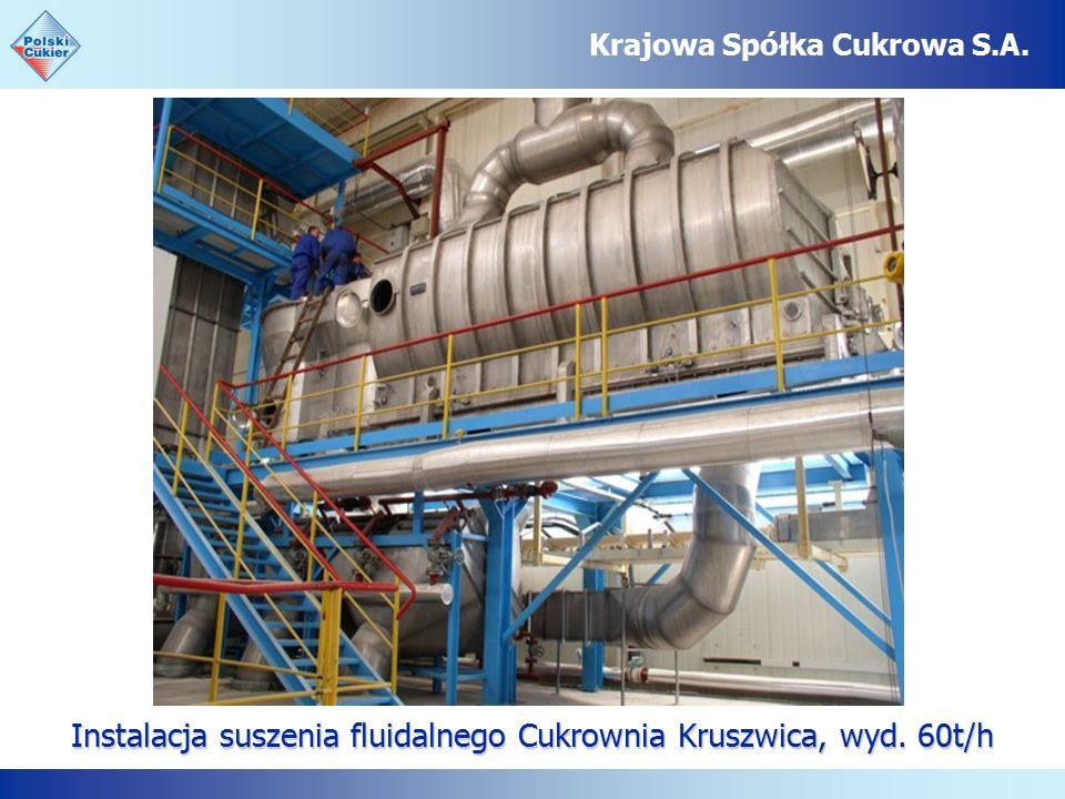 Instalacja suszenia fluidalnego Cukrownia Kruszwica, wyd. 60t/h Krajowa Spółka Cukrowa S.A.
