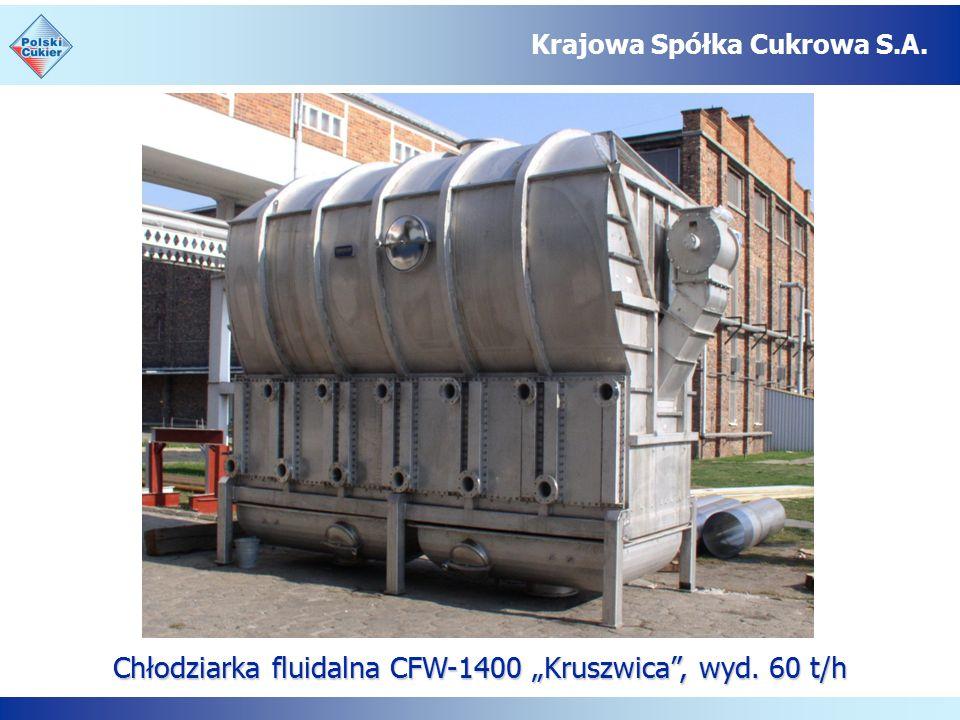 """Chłodziarka fluidalna CFW-1400 """"Kruszwica , wyd. 60 t/h Krajowa Spółka Cukrowa S.A."""