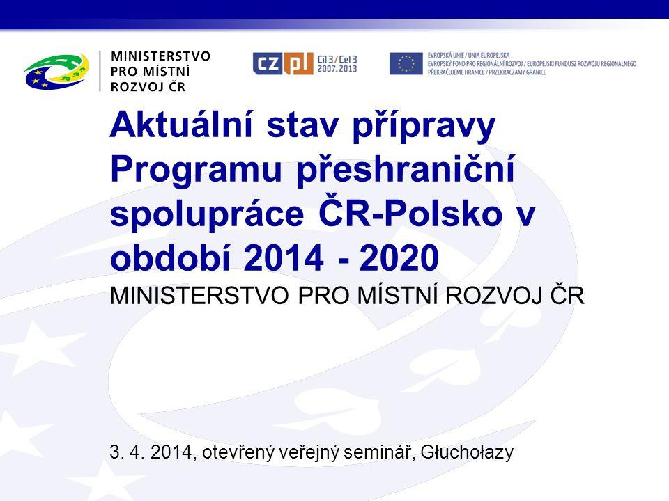 MINISTERSTVO PRO MÍSTNÍ ROZVOJ ČR 3. 4.