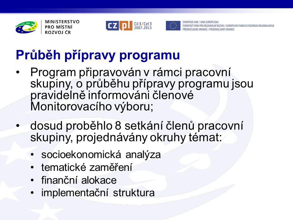 Przebieg przygotowania Programu Program przygotowywany jest przez Grupę Roboczą.