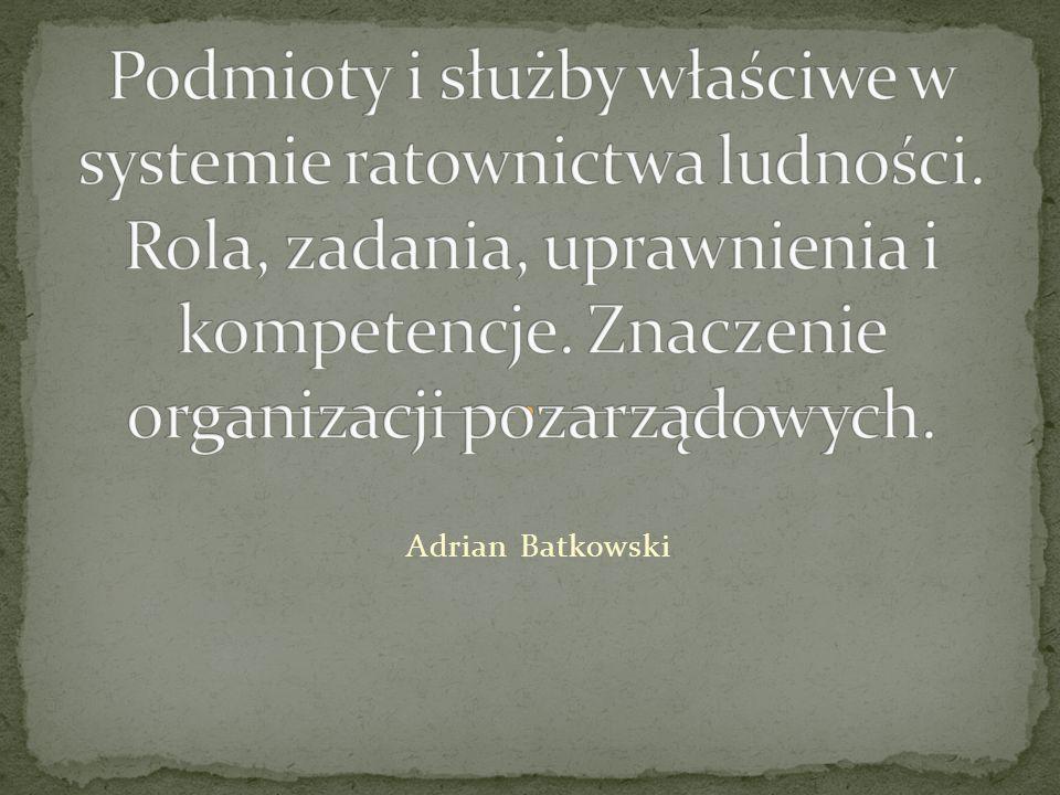 Stowarzyszenie,,Związek Ochotniczych Straży Pożarnych Rzeczypospolitej Polskiej posiadając status organizacj i pożytku publicznego jest ogólnopolskim, samorządnymm, trwałym zrzeszeniem posiadającym osobowość prawną.
