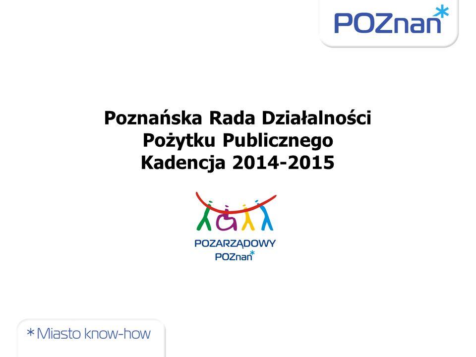 Poznańska Rada Działalności Pożytku Publicznego Kadencja 2014-2015