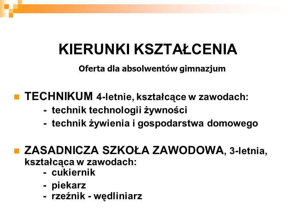 RZEŹNIK-WĘDLINIARZ Możliwość zatrudnienia:  zakłady mięsne  zakłady garmażeryjne