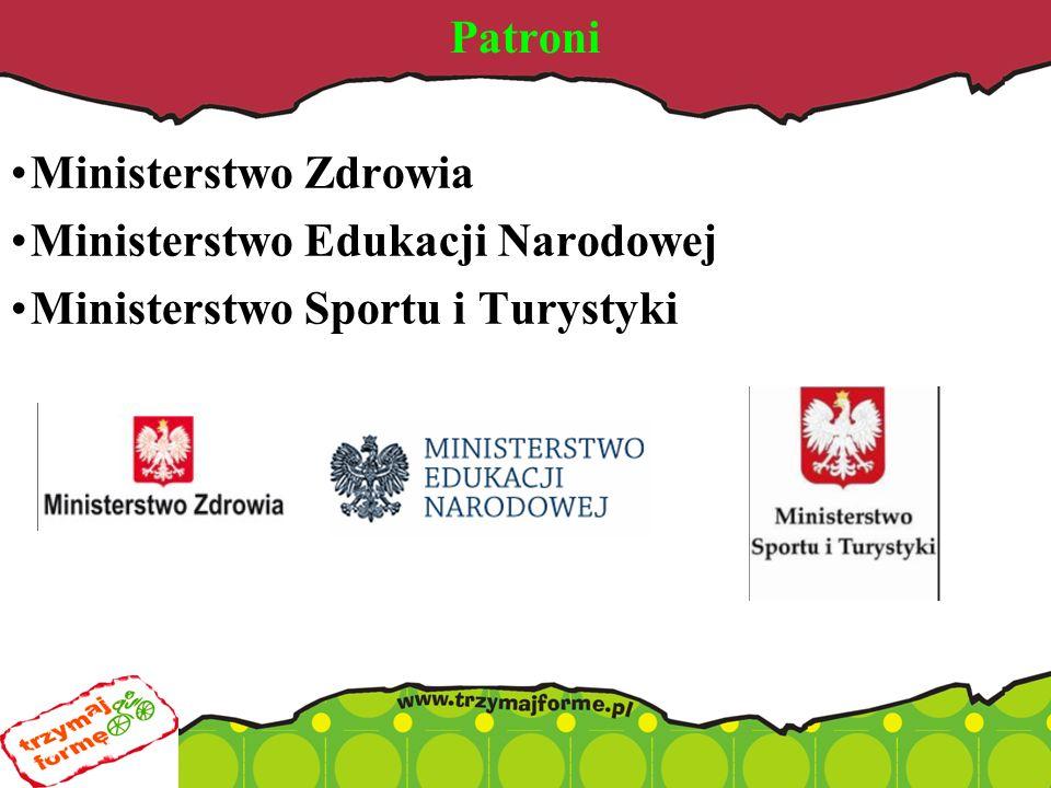 Patroni Ministerstwo Zdrowia Ministerstwo Edukacji Narodowej Ministerstwo Sportu i Turystyki
