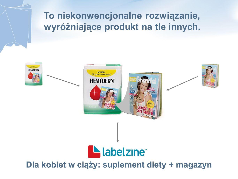 Dla kobiet w ciąży: suplement diety + magazyn To niekonwencjonalne rozwiązanie, wyróżniające produkt na tle innych.