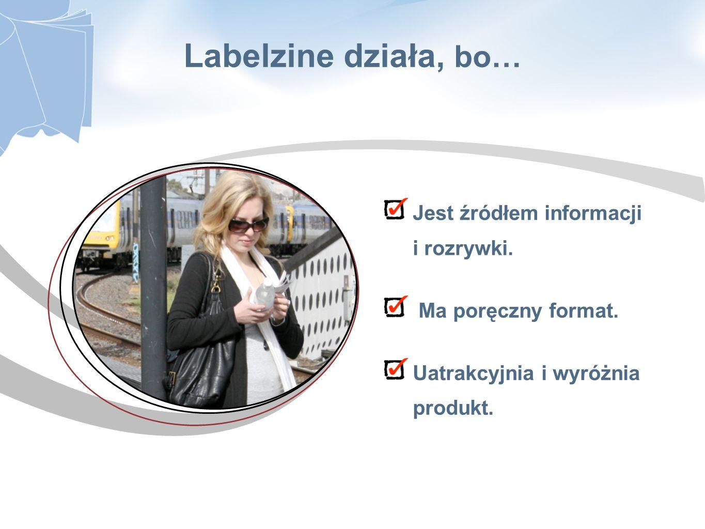 Jest źródłem informacji i rozrywki. Ma poręczny format. Uatrakcyjnia i wyróżnia produkt. Labelzine działa, bo…