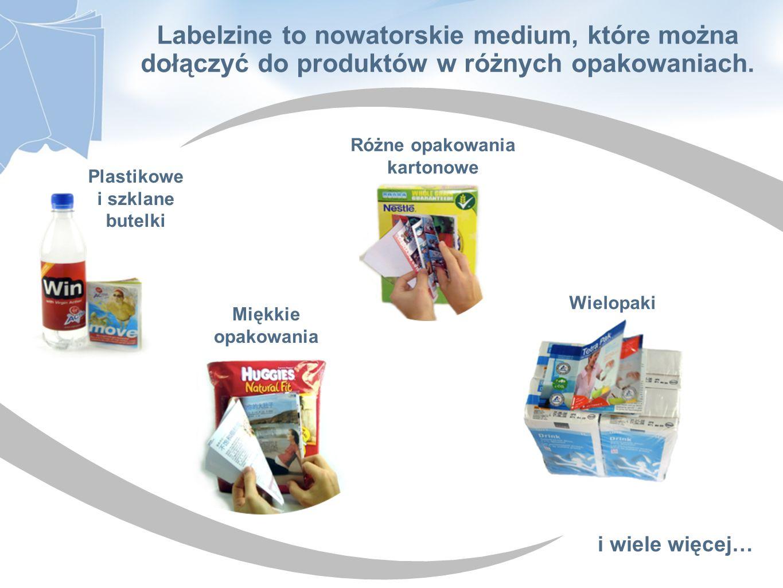 Labelzine to nowatorskie medium, które można dołączyć do produktów w różnych opakowaniach. Plastikowe i szklane butelki Różne opakowania kartonowe Mię