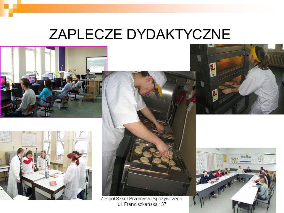 ZAPLECZE DYDAKTYCZNE Zespół Szkół Przemysłu Spożywczego, ul. Franciszkańska 137