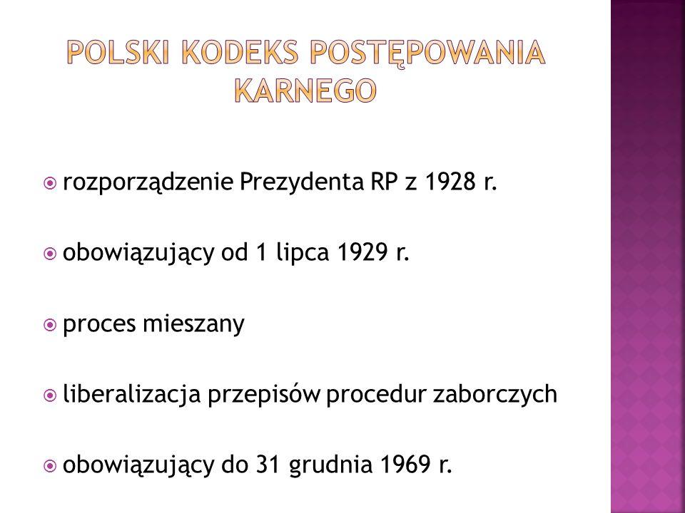  rozporządzenie Prezydenta RP z 1928 r.  obowiązujący od 1 lipca 1929 r.