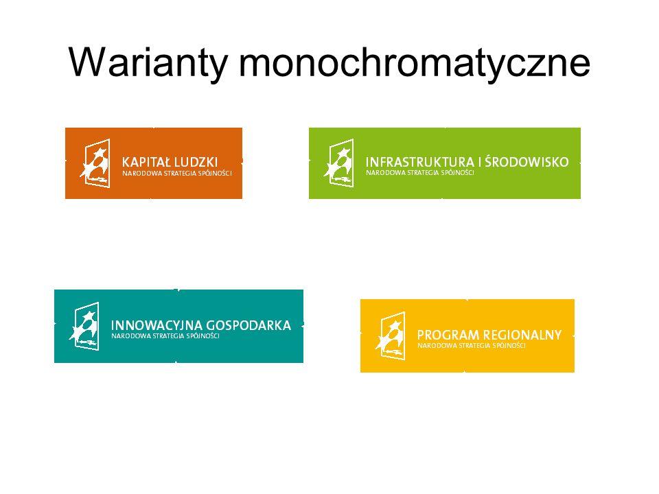 Warianty monochromatyczne