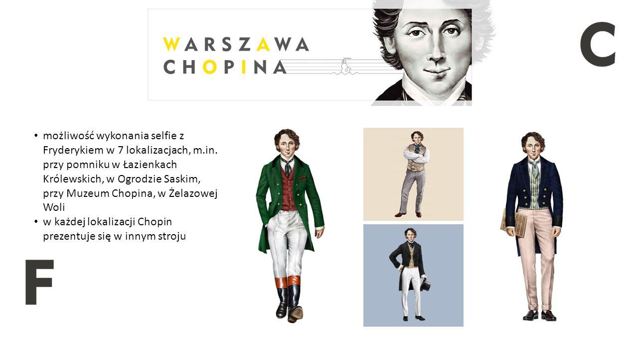 """Aplikacja """"Chopin in Warsaw mobilny przewodnik po miejscach związanych z Chopinem menu w 8 wersjach językowych kalendarium wydarzeń z wykorzystaniem Augmented Reality"""