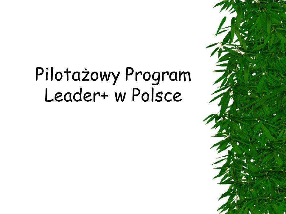 """ Narodowy Plan Rozwoju  Sektorowy Program Operacyjny """"Restrukturyzacja i modernizacja sektora żywnościowego oraz rozwój obszarów wiejskich , Priorytet II, działanie 2.7 - """"Pilotażowy program Leader+ Podstawa prawna:"""