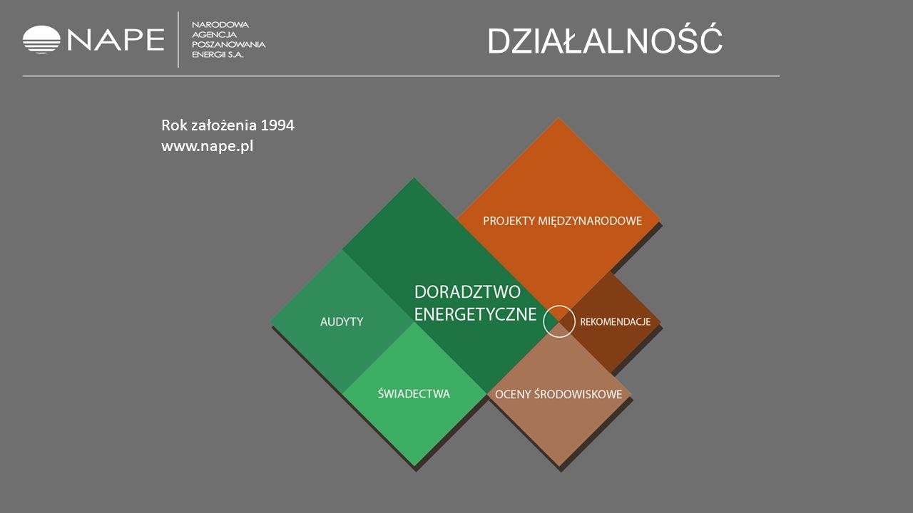 DZIAŁALNOŚĆ Rok założenia 1994 www.nape.pl