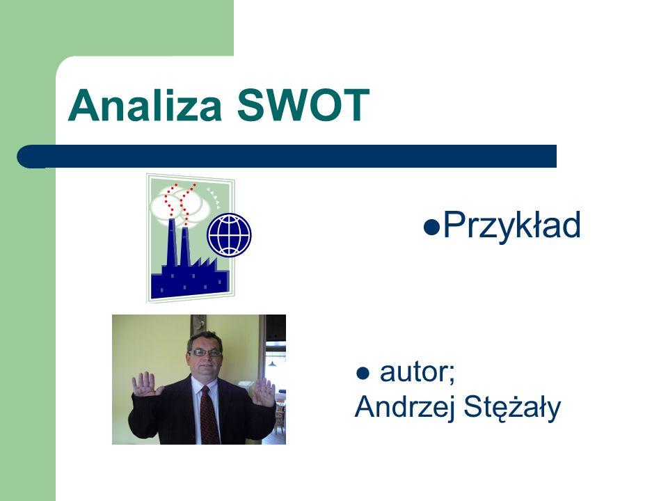 Analiza SWOT Przykład autor; Andrzej Stężały