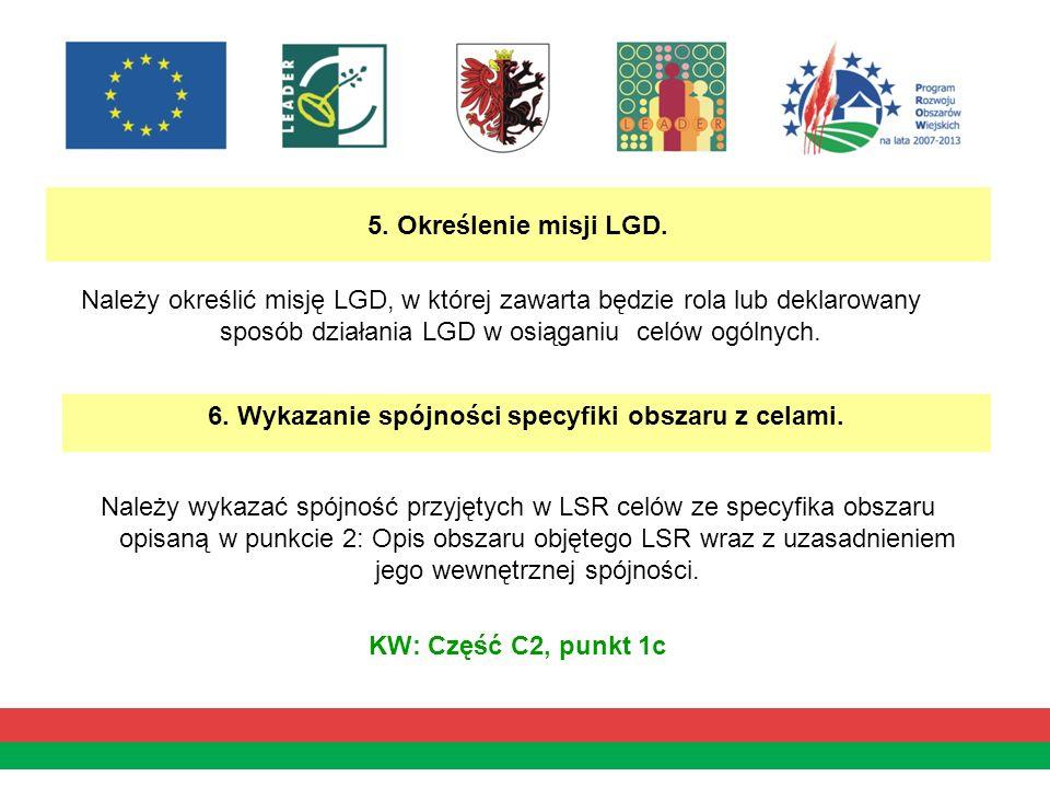 5. Określenie misji LGD.