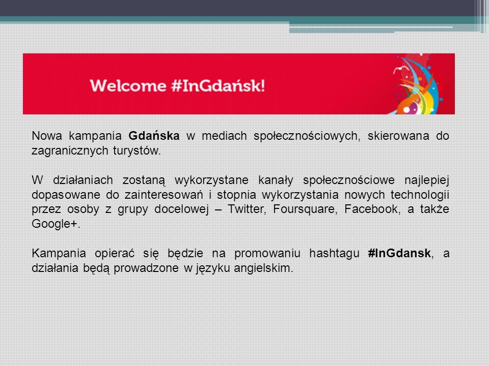 Nowa kampania Gdańska w mediach społecznościowych, skierowana do zagranicznych turystów. W działaniach zostaną wykorzystane kanały społecznościowe naj