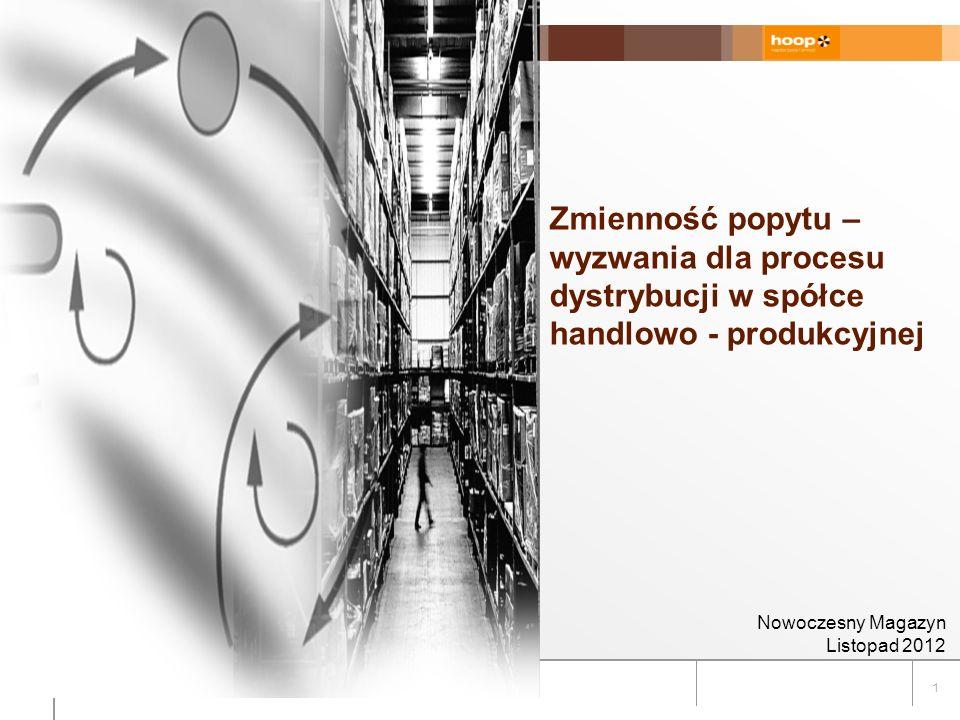 1 Zmienność popytu – wyzwania dla procesu dystrybucji w spółce handlowo - produkcyjnej Nowoczesny Magazyn Listopad 2012