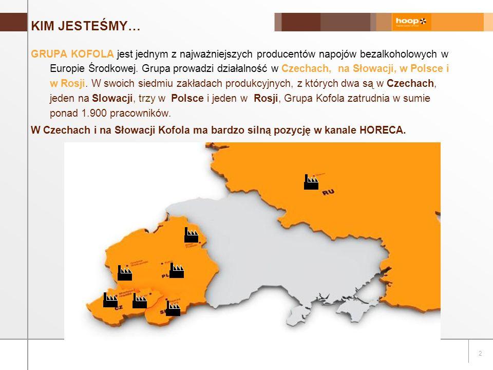 2 KIM JESTEŚMY… GRUPA KOFOLA jest jednym z najważniejszych producentów napojów bezalkoholowych w Europie Środkowej.