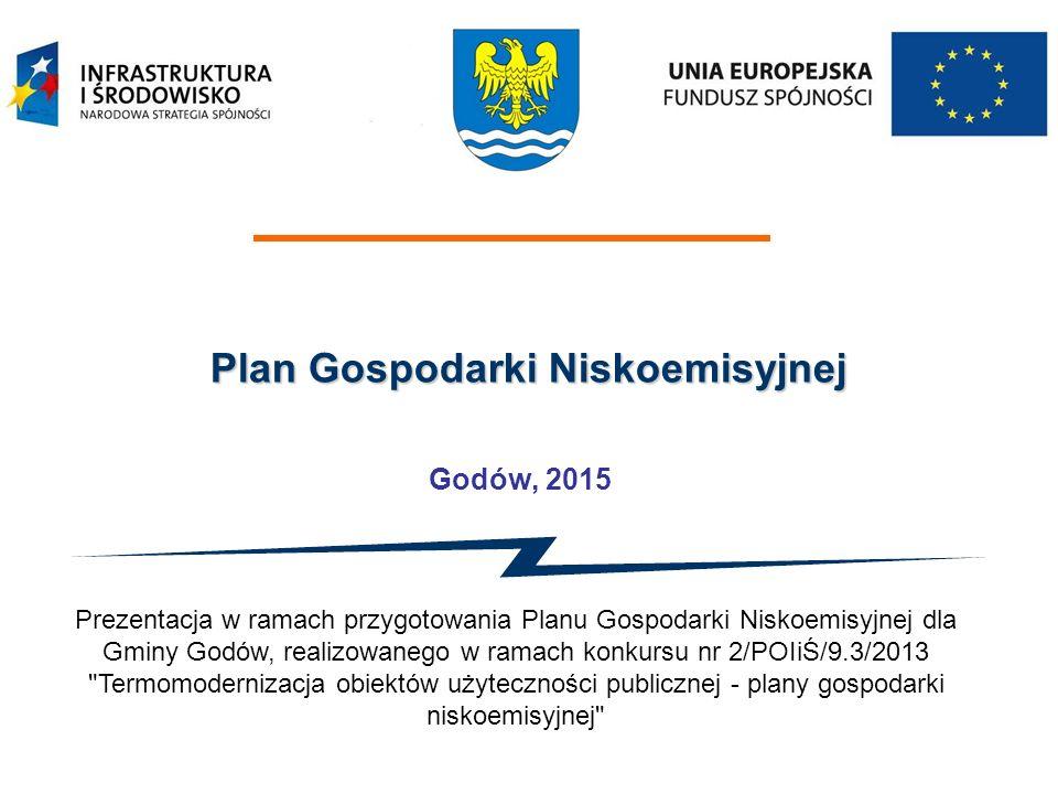 Plan Gospodarki Niskoemisyjnej Godów, 2015 Prezentacja w ramach przygotowania Planu Gospodarki Niskoemisyjnej dla Gminy Godów, realizowanego w ramach