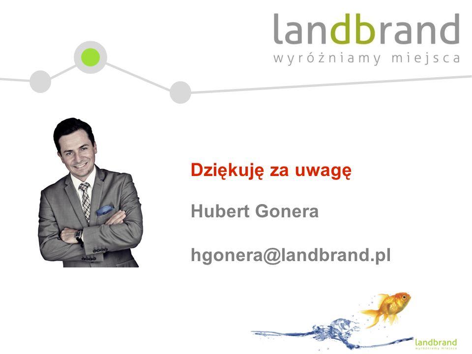 Dziękuję za uwagę Hubert Gonera hgonera@landbrand.pl