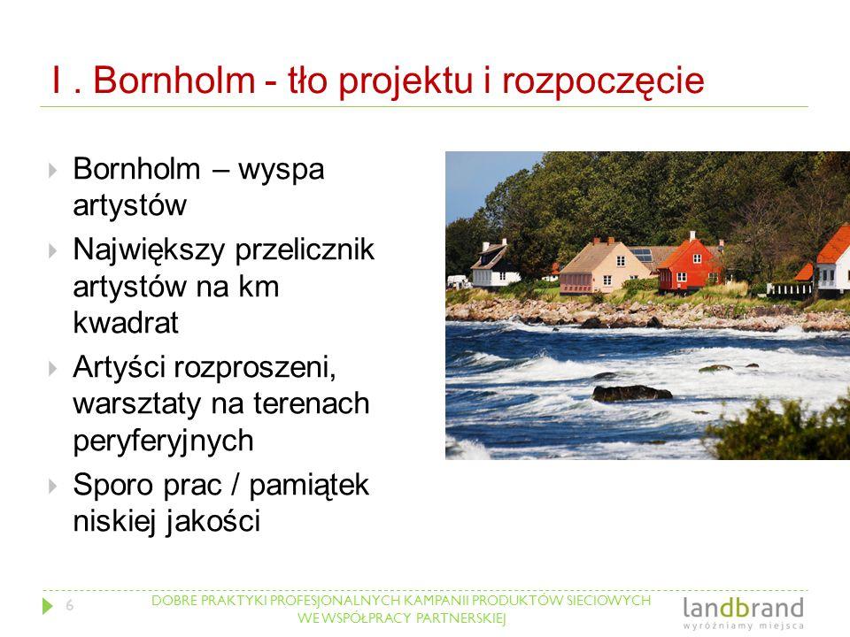 DOBRE PRAKTYKI PROFESJONALNYCH KAMPANII PRODUKTÓW SIECIOWYCH WE WSPÓŁPRACY PARTNERSKIEJ I. Bornholm - tło projektu i rozpoczęcie  Bornholm – wyspa ar